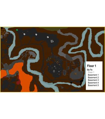 Goblin town dungeons Floor 1 Overview Map no labels